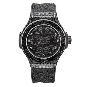 Hublot Big Bang Broderie All Black 198 Diamonds!